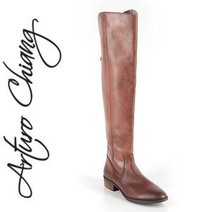 Arturo Chiang Over the knee brown riding boots 7